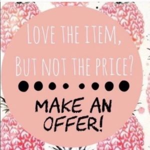 Love my items but not the price? Make an offer🥰